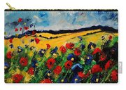 Blue And Red Poppies 45 Carry-all Pouch