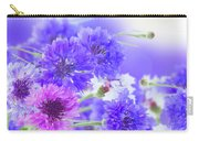Blue And Violet Cornflowers Carry-all Pouch