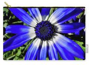 Blue And White African Daisy Carry-all Pouch