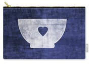 Blue And White Bowl- Art By Linda Woods Carry-all Pouch