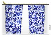 Blue And White Chinoiserie Vases Carry-all Pouch