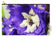 Blue And White Delphiniums Carry-all Pouch