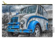 Blue And White Divco Carry-all Pouch