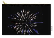 Blue And White Fireworks Carry-all Pouch