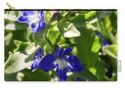 Blue And White Lobelia Carry-all Pouch