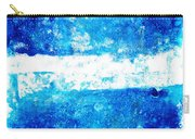 Blue And White Modern Art - Two Pools 2 - Sharon Cummings Carry-all Pouch