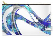Blue And White Painting - Wave 2 - Sharon Cummings Carry-all Pouch