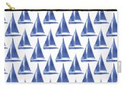 Blue And White Sailboats Pattern- Art By Linda Woods Carry-all Pouch
