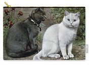 Blue And White Short Haired Cats Carry-all Pouch