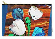 Blue And White Tulips Carry-all Pouch