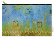 Blue And Yellow Abstract Carry-all Pouch