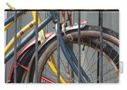 Blue And Yellow Bikes Carry-all Pouch