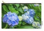 Blue And Yellow Hortensia Flowers Carry-all Pouch