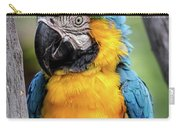 Blue And Yellow Macaw Portrait  Carry-all Pouch