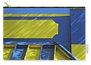 Blue And Yellow Shadows Carry-all Pouch