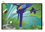 Blue Angels Over Usna Carry-all Pouch