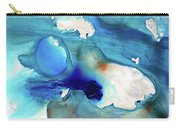 Blue Art - The Meaning Of Life - Sharon Cummings Carry-all Pouch