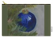 Blue Ball On Christmas Tree Carry-all Pouch