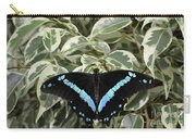 Blue-banded Swallowtail Butterfly Carry-all Pouch