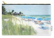 Blue Beach Umbrellas, Crescent Beach, Siesta Key - Wide Carry-all Pouch
