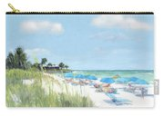 Blue Beach Umbrellas, Point Of Rocks, Crescent Beach, Siesta Key Carry-all Pouch