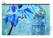 Blue Bells On Vintage 1936 Postcard Carry-all Pouch
