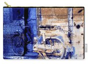 Blue Bike Abandoned India Rajasthan Blue City 2c Carry-all Pouch