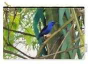 Blue Bird With A Curved Bill Carry-all Pouch