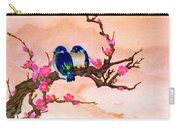 Blue Birds And Plum Blossoms #48 Carry-all Pouch