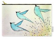 Blue Birds In Flight Carry-all Pouch