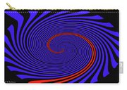 Blue Black And Red Twirl Abstract Carry-all Pouch