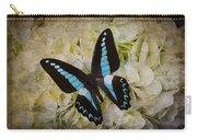 Blue Black Butterfly Dreams Carry-all Pouch