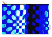 Blue Black Pattern Abstract Carry-all Pouch