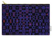 Blue Black Red Warp Abstract Carry-all Pouch