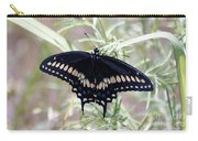 Blue Black Swallowtail Carry-all Pouch