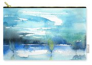 Blue Blue The World Is Blue Carry-all Pouch