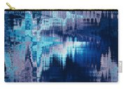 blue blurred abstract background texture with horizontal stripes. glitches, distortion on the screen broadcast digital TV satellite channels Carry-all Pouch