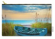 Blue Boat At Dawn Watercolors Painting Carry-all Pouch