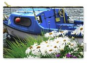 Blue Boat With Daisies Carry-all Pouch