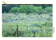 Blue Bonnets,poppies And Willow Tree 2 Carry-all Pouch