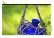 Small Blue Bottle Garden Art Carry-all Pouch