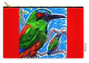 Blue Browed Motmot Carry-all Pouch