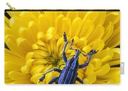 Blue Bug On Yellow Mum Carry-all Pouch
