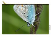 Blue Butterfly On Grass Carry-all Pouch