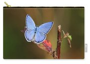 Blue Butterfly On Leaf Carry-all Pouch