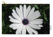 Blue Center Daisy Carry-all Pouch