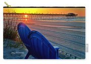 Blue Chairs Pier Sunrise Carry-all Pouch
