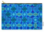 Blue Circles Abstract Art By Sharon Cummings Carry-all Pouch
