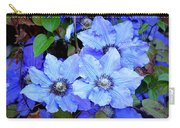 Blue Clematis Carry-all Pouch