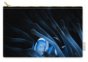 Blue Clownfish Big Size 15x11 - Beach House Art Carry-all Pouch